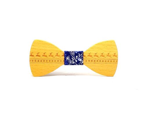 dasher noeud papillon bois hêtre bleu de noël