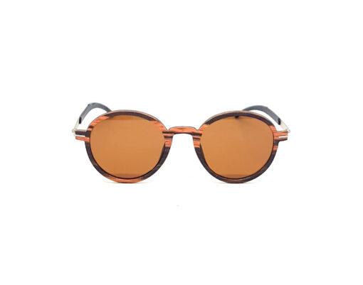trivia lunettes bois ébène verres bruns