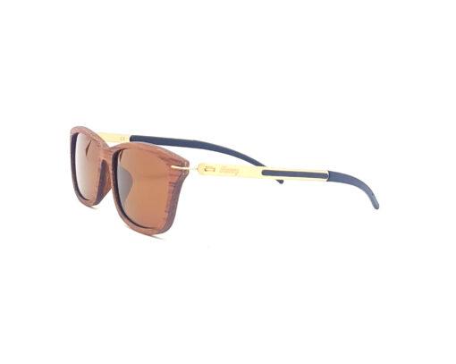 aquilon lunettes bois de rose verres bruns coté