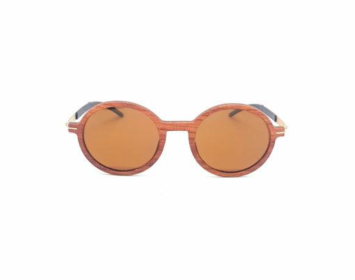 diane lunettes bois de rose verres bruns face