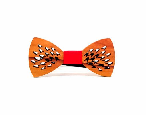 gyali noeud papillon bois sapotillier rouge